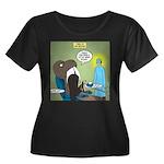 T-Rex at Women's Plus Size Scoop Neck Dark T-Shirt