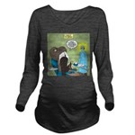 T-Rex at the Dentist Long Sleeve Maternity T-Shirt