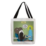 T-Rex at the Dentist Polyester Tote Bag