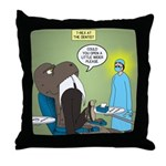 T-Rex at the Dentist Throw Pillow