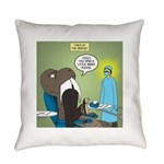 T-Rex at the Dentist Everyday Pillow