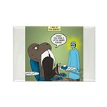 T-Rex at the Dentist Rectangle Magnet (100 pack)