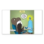 T-Rex at the Dentist Sticker (Rectangle 50 pk)