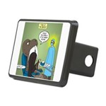 T-Rex at the Dentist Rectangular Hitch Cover