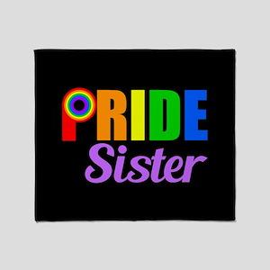 Gay Pride Sister Throw Blanket