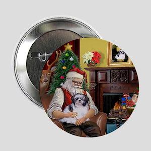 "Santa's Shih Tzu (#1) 2.25"" Button"
