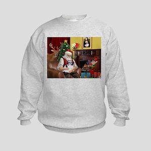 Santa's Shih Tzu (#1) Kids Sweatshirt