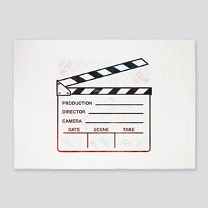 movie film start go clapper 5'x7'Area Rug