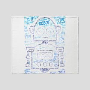 cute robot Throw Blanket
