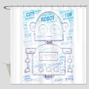 cute robot Shower Curtain