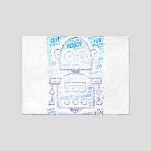 cute robot 5'x7'Area Rug