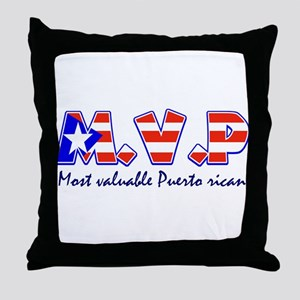 Most valuable Puerto rican Throw Pillow