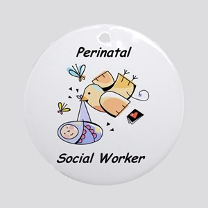 Perinatal Social Worker Ornament (Round)