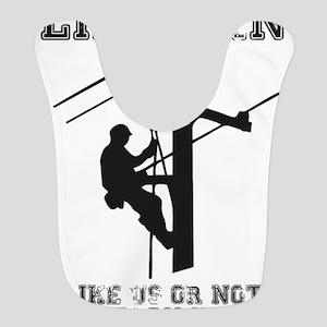Lineman T Shirt Polyester Baby Bib