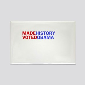 I Made History I Voted Obama Rectangle Magnet