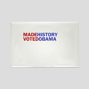 I Made History I Voted Obama Rectangle Magnet