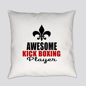 Awesome Kickboxing Player Everyday Pillow
