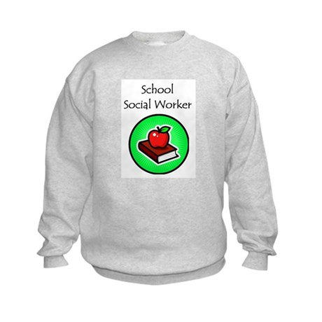 School Social Worker Kids Sweatshirt