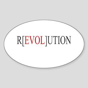 Love Revolution Oval Sticker