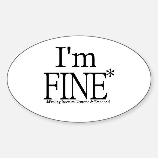 Funny Emotional Sticker (Oval)