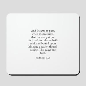 GENESIS  38:28 Mousepad