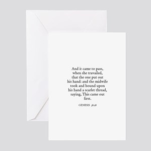 GENESIS  38:28 Greeting Cards (Pk of 10)