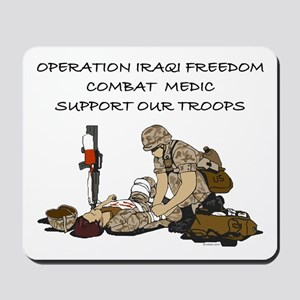 Combat Medic OIF Support Mousepad