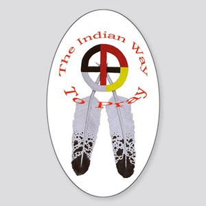 Indian Way to Pray Oval Sticker