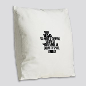 English Toy Spaniel Dog Dad Burlap Throw Pillow