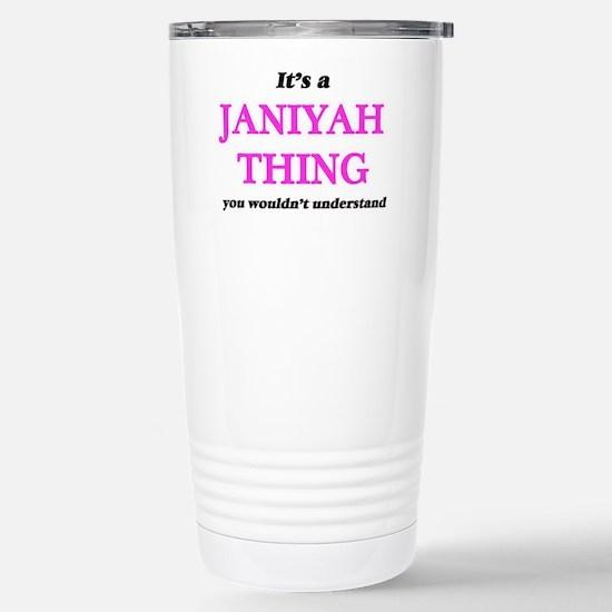 It's a Janiyah thin Stainless Steel Travel Mug