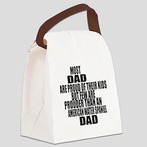 American Water Spaniel Dog Dad Canvas Lunch Bag