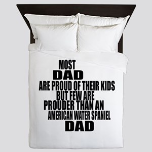 American Water Spaniel Dog Dad Queen Duvet