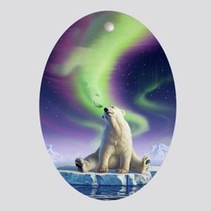 Arctic Kiss 1 Oval Ornament