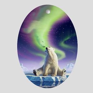 Arctic Kiss 1 Oval Ornament