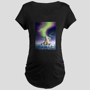 Arctic Kiss 1 Maternity Dark T-Shirt