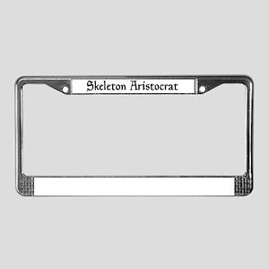 Skeleton Aristocrat License Plate Frame