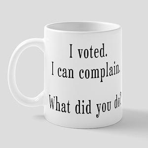 I Voted Mug