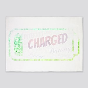 battery power charged charging 5'x7'Area Rug