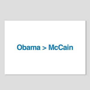 Obama > McCain Postcards (Package of 8)