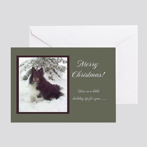 Tri-Color Sheltie Greeting Card