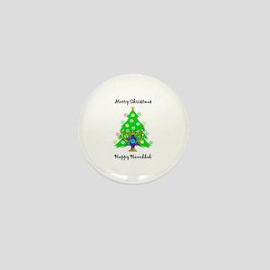 Hanukkah and Christmas Interfaith Mini Button