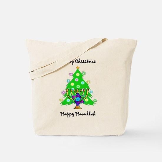 Hanukkah and Christmas Interfaith Tote Bag
