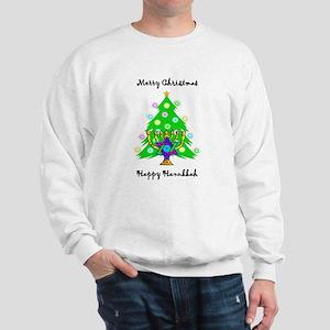 Hanukkah and Christmas Interfaith Sweatshirt