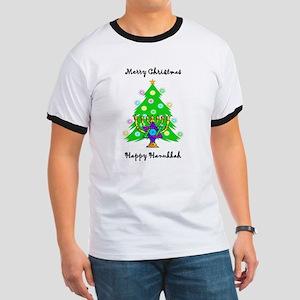 Hanukkah and Christmas Interfaith Ringer T