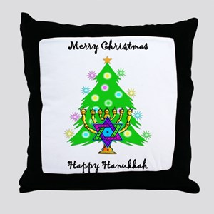Hanukkah and Christmas Interfaith Throw Pillow