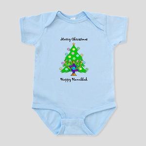 Hanukkah and Christmas Interfaith Infant Bodysuit