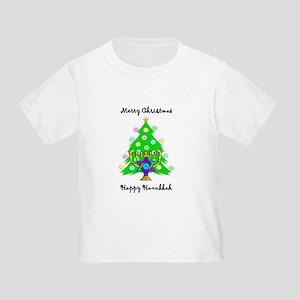 Hanukkah and Christmas Interfaith Toddler T-Shirt