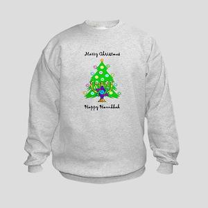 Hanukkah and Christmas Interfaith Kids Sweatshirt