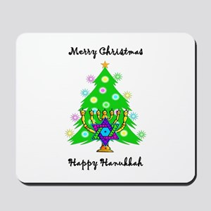 Hanukkah and Christmas Interfaith Mousepad