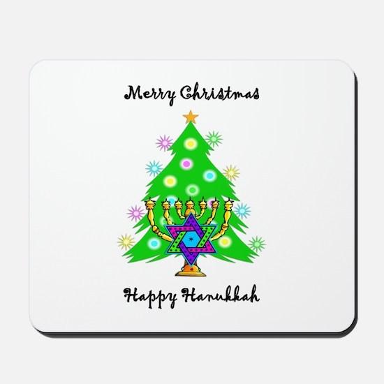 Hanukkah and Christmas Interfaith Mousepad
